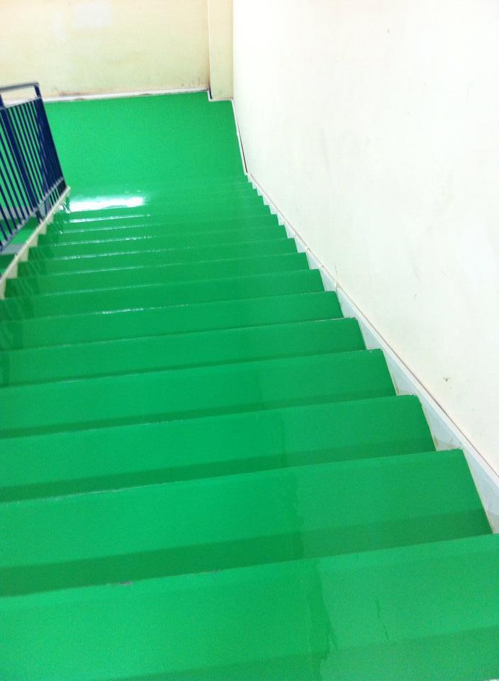 Sơn epoxy cầu thang bộ HP-TECH
